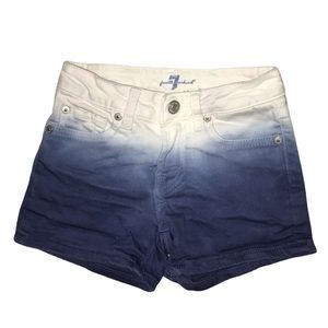 7 for all mankind ombré jean shorts